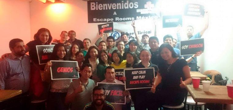 Actividad de Integración empresarial en cuartos de escape