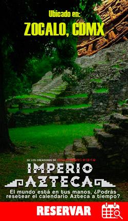 IMPERIO AZTECA - Cuarto de escape en el Zócalo CDMX